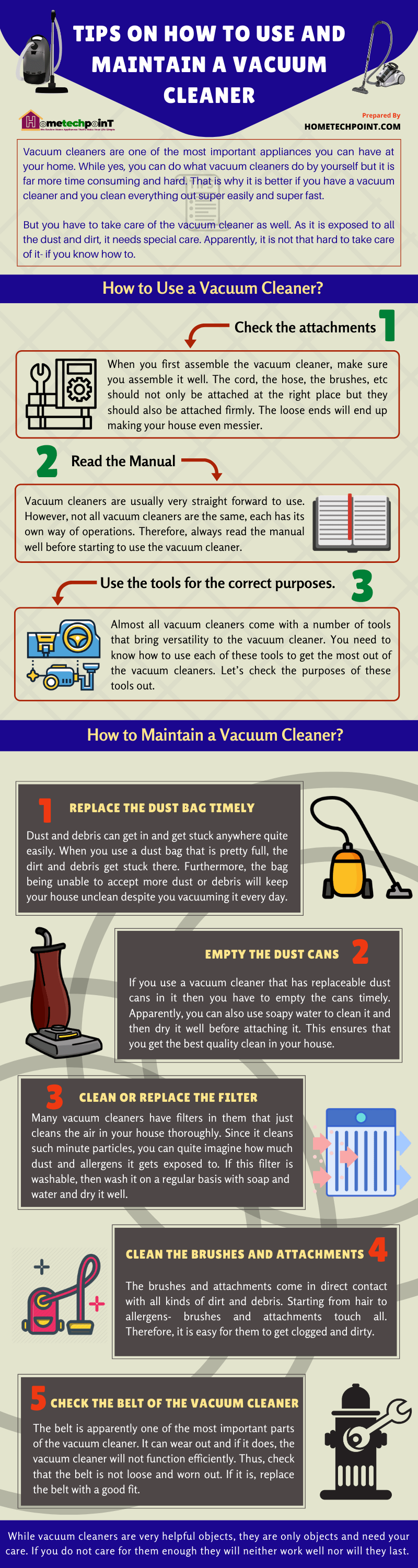 Tips on How to Use and Maintain Vacuum Cleaner